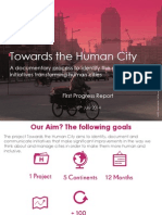 Towards the Human City - First Progress Report (July 2014)