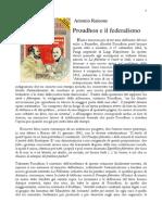 Proudhon e Il Federalismo