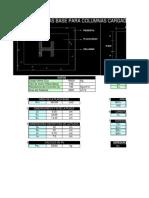 Placas Base Espesor de Placas Bases Para Columnas de Acero Cargadas Axialmente Siquiendo El Metodo Lrfd