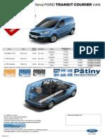 Ford Transit Courier - Cenník Júl 2014