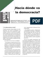 Hacia Donde Va La Democracia...