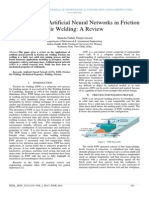 Applications of Artificial Neural Networks in Friction Stir Welding