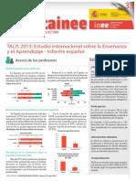 Talis 2013 - Informe Español Resumen