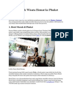 Tips Dan Trik Wisata Hemat Ke Phuket Thailand