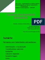 1º grupo - Farmacos com heterósidos antracénicos