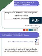 Apresentaçao do modelo de auto-avaliaçao da BE