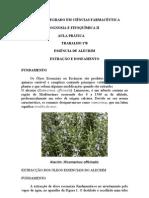 1ªB -essência de alecrim-extracção e doseamento