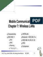 Wireless LANs Jochen Schiller
