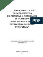 Saberes Prácticas y Procedimientos de Artistas y Artesanos