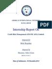 Internship Report on Credit Risk Management of Bank Asia Limited