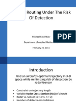 Aircraft Routing Under the Risk of Detection