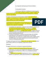 Decreto Para El Fomento y Operación de Empresas de Comercio Exterior