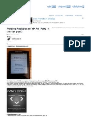 Porting Rockbox to YP-R0 (FAQ in the 1st Post) - Samsung R0