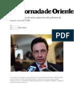 03-07-2014 La Jornada de Oriente - El ombudsman avala actos represivos del gobierno de Rafael Moreno Valle.