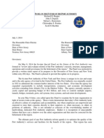 Special Panel Letter to Governor 7-3-14