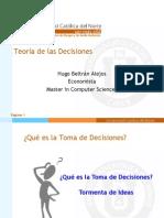 Teoría de Las Decisiones - Parte 01