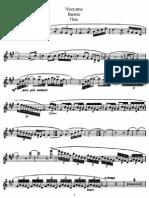 Barrère - Nocturne - Flute Part