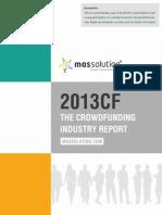 Crowdfunding Industry Report 2013