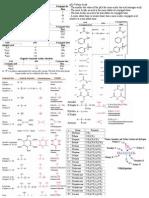 Study Guide Organic Chemistry I Exam 1