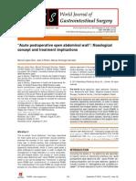 ARTIGO - Acute Postoperative Open Abdominal Wall