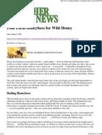 Find Local Honeybees for Wild Honey