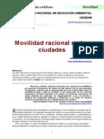 Movilidad Racional en Ciudades