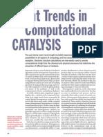 Recent Trends in computational catalysis