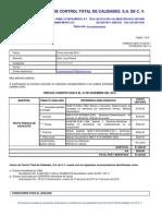 analisis quimicos cotización