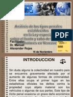 Analisis Sobre La Ley Sobre El Hurto y Robo de Vehiculos Automotores Venezuela