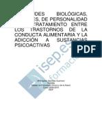Similitudes Biologicas Sociales de Personalidad Y de Tratamiento Entre Los Trastornos de La Conducta Alimentaria Y La Adiccion a S