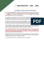 Land Title Registration Info