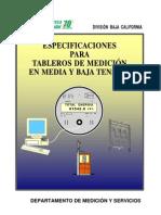 CFE Especificaciones de Medicion