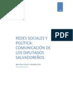 Investigacion Redes Sociales y diputados salvadoreños