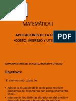 Copia de Ecuaciones Lineales de Costo, Ingreso y Utilidad[1][1]
