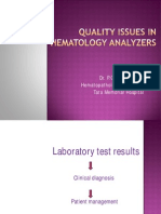 MANI Quality Control in Hematology Analysers