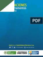 Exportaciones de sectores PTP por departamento / Principales productos exportados (2012, 2013 y ene-abril 2014)