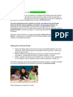 Cómo Hacer Un Proyecto Escolar