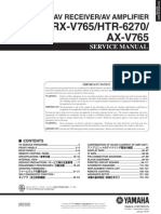 Yamaha RX-V765 Htr-6270 Sm [ET]