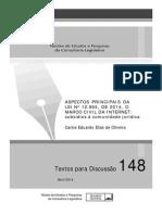 TD 148 - 2014 - CONLEG-SENADO - Aspectos Principais Marco Civil Da Internet