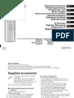 Manual IC RECORDER RR-US300