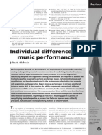 Individual differences in music performance