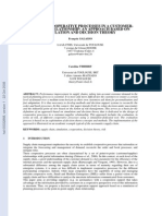 Design of Cooperative Processes in a Customersupplier Relationship -- An Approach Based on Simulation and Decision Theory