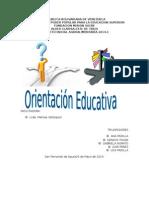 Trabajo y Exposicion de Orientacion Educativa