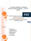 The DEVELOPMENT OF MOBILE APPLICATION FOR MUET – A PILOT STUDY
