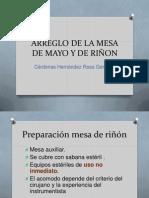 Arreglo de La Mesa de Mayo y Riñon