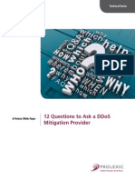 12 Questions to Ask a DDoS Mitigation Provider - Technical Series - Prolexic White Paper 032013