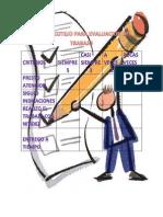 lista de cotejo para evaluacion del trabajo