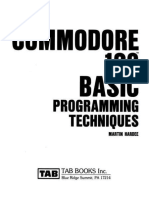 Commodore 128 Basic Programming Techniques