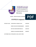 Sysweld Welding Report