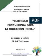 Curriculo Institucional Para La Educación Inicial